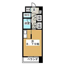 久屋パークサイドハウス[9階]の間取り