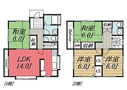 京成本線 京成成田駅 バス25分 双葉入口下車 徒歩5分の賃貸一戸建て 1階4LDKの間取り