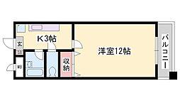 兵庫県姫路市広畑区長町1丁目の賃貸マンションの間取り