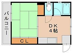 グレイシャス長尾[3階]の間取り