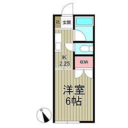 メゾン鎌倉[105号室]の間取り