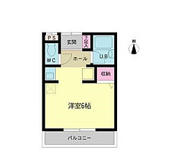 福岡県北九州市八幡東区祇園2丁目の賃貸アパートの間取り