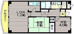 ペアステージ東館[3階]の間取り