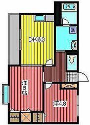 シュプレーム[2階]の間取り