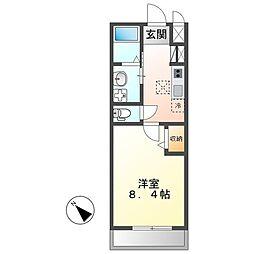 土浦市真鍋新築アパート(仮) 1階1Kの間取り