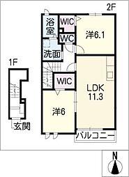シンフォニー[2階]の間取り