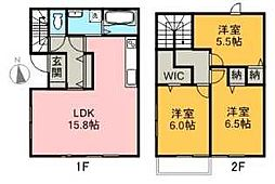 [一戸建] 愛媛県新居浜市宇高町3丁目 の賃貸【/】の間取り