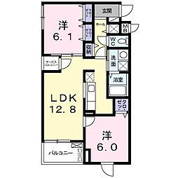 美園東3丁目マンション[1階]の間取り