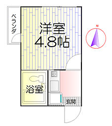 東京都足立区竹の塚5の賃貸アパートの間取り