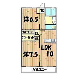 神奈川県横浜市瀬谷区南台1丁目の賃貸アパートの間取り