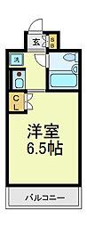 デリード田辺駅前[4階]の間取り