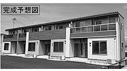 茨城県つくば市谷田部陣場の賃貸アパートの外観