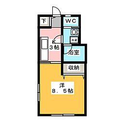 ソフテイル[1階]の間取り