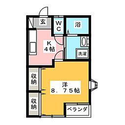 パルスフラット[2階]の間取り