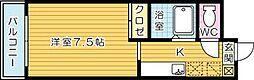 ルネッサンスTOEI田町[402号室]の間取り