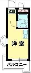 東京都中野区新井2の賃貸マンションの間取り