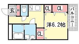 MIRAVAL三宮[6階]の間取り