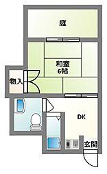 大阪府四條畷市蔀屋本町の賃貸アパートの間取り