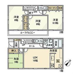 [一戸建] 千葉県松戸市六高台西 の賃貸【千葉県 / 松戸市】の間取り