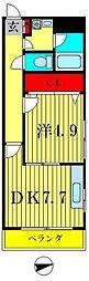 メゾンツジヤマ[3階]の間取り
