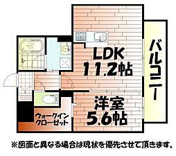 サンシャインタワー陣原[2階]の間取り
