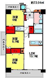 サンガイア和賀[4階]の間取り