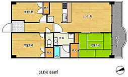兵庫県神戸市中央区神仙寺通3丁目の賃貸マンションの間取り