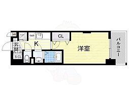 Luxe新大阪α 4階1Kの間取り