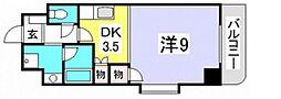 広島県広島市佐伯区楽々園1丁目の賃貸マンションの間取り