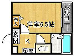 アロマ21[3階]の間取り