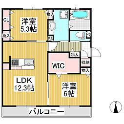 (仮)D-room北尾張部[2階]の間取り