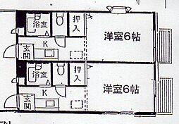 神奈川県横浜市金沢区富岡東4丁目の賃貸アパートの間取り