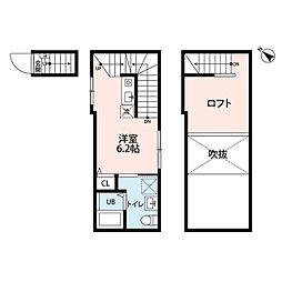 クリア町田 2階ワンルームの間取り