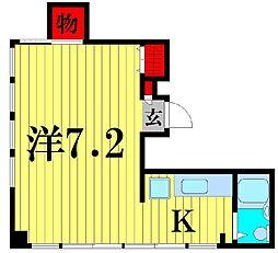 デベロップ松戸[3階]の間取り