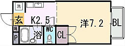 大阪府東大阪市中小阪2丁目の賃貸アパートの間取り