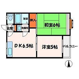 大丸マンション[3階]の間取り
