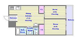 グリーンヒル舞子A棟[1階]の間取り