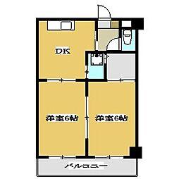 東京都江戸川区南葛西2丁目の賃貸アパートの間取り