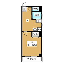 エクセル錦[3階]の間取り