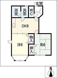 サンビレッジ河原田II[1階]の間取り