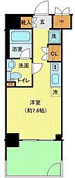 クラリッサ横浜アレッタ 1階ワンルームの間取り