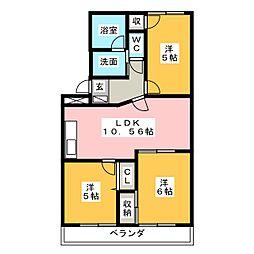 SunMates福田[2階]の間取り