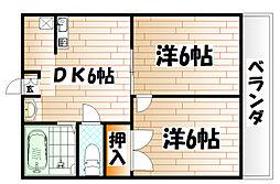 長浜ハイツ[2階]の間取り