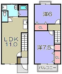 メゾングリンピア[2階]の間取り