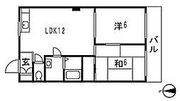 平木ハウス[202号室]の間取り