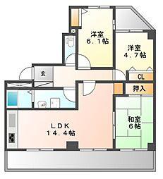 サクラ東栄レジデンス[4階]の間取り