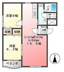 ヒーローマンションイースト[3階]の間取り