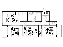 ヴェルデ三番館[2階]の間取り