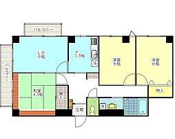 東京都足立区一ツ家3丁目の賃貸マンションの間取り