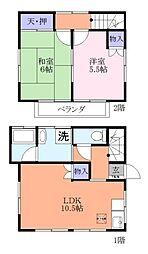 [一戸建] 千葉県習志野市実籾2丁目 の賃貸【/】の間取り